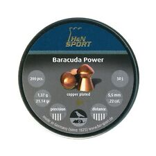 50 200 400 H&N BARACUDA POWER Copper Coat .22 Long Range Pest Air Rifle Pellets