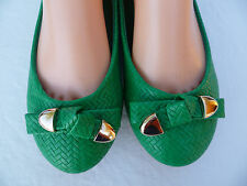 GREEN WOMEN'S FLAT SHOES VIA PINKY SIZE : 5-10 EVELYN