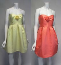 Allen Schwartz  PRIVE Bridesmaid Formal Dress Yellow or Coral Various Sizes NEW