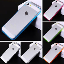 Ultra Thin Glossy Clear Back Hard Bumper Frame Case Cover Skin for iPhone 5 5G