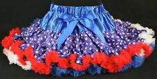 Pettiskirt Tutu Stars and Stripes 4th of July Parade Party Pageant * NWT 1-12Yr