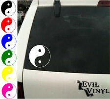 Ying Yang Vinyl Car Window Decal Symbol Love Peace Sign Spirit Sticker ANY SIZE