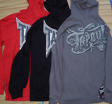 TAPOUT MENS GRAPHIC LOGO THERMAL KNIT PULLOVER LONG SLEEVE SHIRT W/HOOD LIS $38