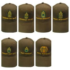 Army Sergeant Olive Drab Green Hat Cap Embroidered in the USA
