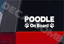 Poodle On Board paw print decal / sticker dog puppy