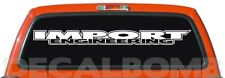 IMPORT ENGINEERING outline race windshield decal / sticker choose color & size
