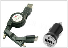 NEW STYLE USB IN CAR CHARGER & 3 IN 1 DATA CABLE FOR ALL SAMSUNG MODEL PHONES