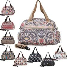Womens Casual Travel Bags Duffle Gym Bags Luggage Weekender Shoulder Cross bags