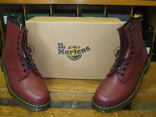 UNISEX DR. MARTENS CHERRY RED LEATHER 1460 8 EYELET LACED BOOTS Size 11