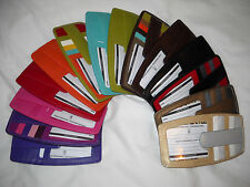 New ILI Lthr Multi Color Wallet ID Credit Card Holder Zip Pouch - #7804