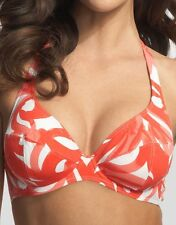 Rasurel Watermelon/Henna Vallauris Underwired Halter Bikini Top