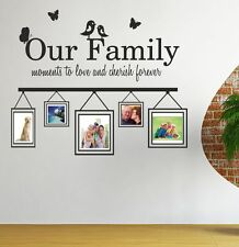 OUR FAMILY moments to cherish - Wall art sticker with photo frames - WQA19