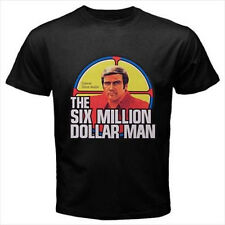 The Six Million Dollar Man Logo Dance Black T-Shirt Size S to 3XL Brand New
