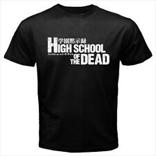 High School Of The Dead Anime Logo Black T-Shirt Size S to 3XL Brand New