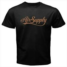 Air Supply Logo Black T-Shirt Size S to 3XL Brand New