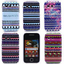 Various Triangle Stripe Pattern Hard Back Skin Cover for Samsung Galaxy Y S5360