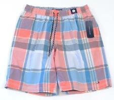 Tommy Hilfiger Pink & Blue Plaid Tommy Trunks Swim Trunks Boardshorts Mens NWT