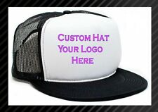 Custom Made Trucker Hat with your logo Mesh Snap back caps NEW  *You Pick Color*
