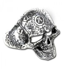 Omega Skull Ring Pewter Alchemy Gothic Jewelry Punk Rock R122