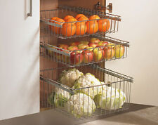Chrome Pull Out Wire Baskets Kitchen Base & Larder Units Cupboards Various Sizes