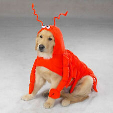 Orange Lobster Paws Polyester Dog Costume By Casual Canine Smaller Sizes Unisex