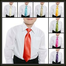 Kids Tied Neckties with elastic strap Formal pageboy 37 Colours boys ties