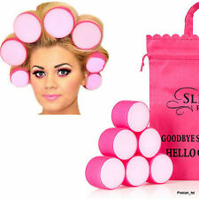 ULTIMATE BOUNCE VELCRO SLEEP IN SNOOZE ROLLERS AND ORIGINAL WITH PINK BAG