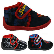 **BOYS INFANT AMAZING MARVEL SPIDERMAN FASHION VELCRO KIDS SLIPPERS BOOTEE SHOES