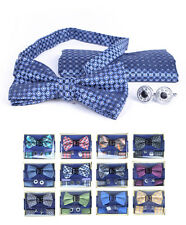 Simple Matching Bow Tie, Hanky, and Cufflinks Set (BTHC1000N)