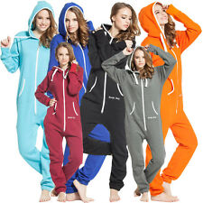 New Womens Mens Hooded Zip Onsie Jumpsuit Ladies One Piece By Nordic Way Unisex
