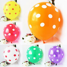 12 Pieces 12-inch Latex Polka Dot Balloons Wedding Party Christmas Decorations
