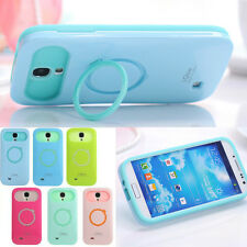 Iglow Dual Color Hybrid Back Stand Case Cover For Samsung Galaxy S IV S4 i9500