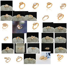 Hot Gorgeous 9K Gold Filled Cubic Zircon/Crystal Fashion Rings 30Style U Pick