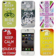 English Bike Bell Printing Beer Image Hard Back Skin Case Cover for iPhone 4 4S