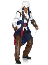 MEN'S ASSASSINS CREED CONNOR ADULT COSPLAY COSTUME -S/M, M/L,XL