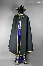 CODE GEASS Lelouch Zero Cosplay costume Kostüm with Mask Shoes Schuhe Maske helm