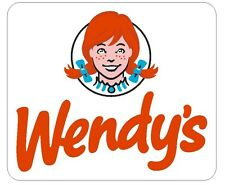 Wendys Hamburgers Vinyl Decal Sticker MADE IN THE USA Collectible R230