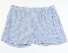 Ralph Lauren Blue Stripe 100% Cotton Woven Boxer Underwear Mens NWT