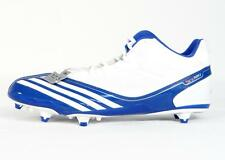 Adidas Scorch Thrill Mid D White & Blue Football Cleats Shoes Mens NWT