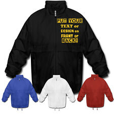 PERSONALISED WINDBREAKER JACKETS - MAKE & DESIGN YOUR OWN CUSTOM PRINTED JACKETS