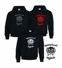 Motorhead England CD Album Black HOODY HOODIE SWEATER TOP SWEATSHIRT Motor Head