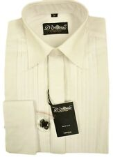 "Mens X/LONG SLV  White Pleated Front Reg Collar Evening  Dress Shirt 15""-19.5"""