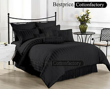 Brand New 1000TC Hotel Black Color Collection US Bedding Set 100%Egyptian Cotton