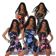 WOMENS NEW COCKTAIL FLORAL STRAPLESS DRESS SIZE 6-8-10 LADIES PARTY CLUB FORMAL