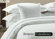 Brand New Hotel White Solid & Striped 1000TC US Bedding Collection 100% Cotton