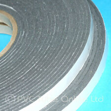 Single Sided Foam Tape- 3mm x 10mm Wide -Self Adhesive Closed Cell Weatherproof