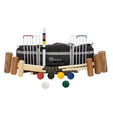 6 Player Family Croquet Sets 4 Sizes of Hardwood Head Croquet Mallet in Each Set