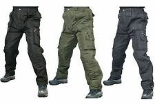 Mens winter waterproof thermal warm insulated linied cargo work trousers pants