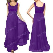 New Beaded Bridesmaid Wedding Prom Gown Formal Evening Dress AU Size 8-22 SP13