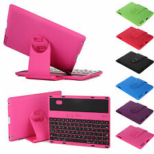 Cover Case with Swivel Rotary Stand + Bluetooth Wireless Keyboard for iPad 4/3/2
